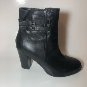 Marc Fisher Black Leather Bootie Size 8